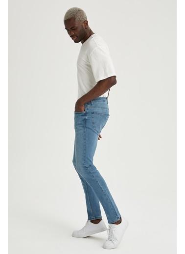 DeFacto Pedro Slim Fit Normal Bel Dar Paça Jean Pantolon Yeşil